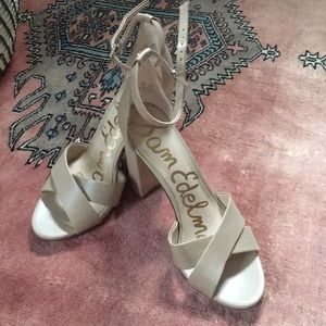 6353f16245d Sam Edelman Shoes - Sam Edelman Yancy nude sandal heel